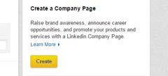 Step 2 of creating a LinkedIn company page