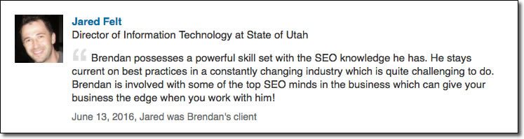 Brendan possesses a powerful skill set with the SEO knowledge he has. He stays current on best practices in a constantly changing industry which is quite challenging to do. Brendan is involved with some of the top SEO minds in the business which can give your business the edge when you work with him!