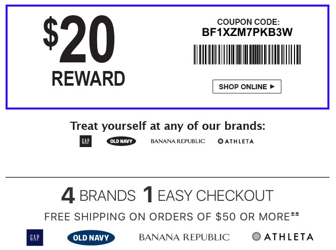 coupon code for the Banana Republic