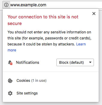 Google SSL Warning Message