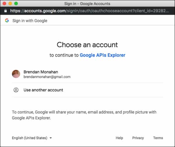 Choose Your Gmail Account