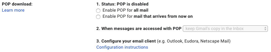 Gmail Creation Date POP